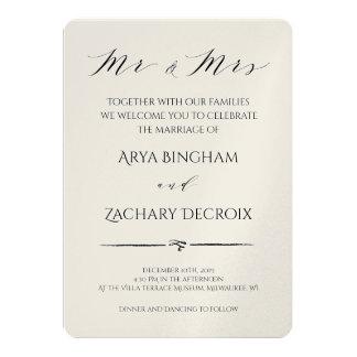 Faire-part de mariage classique de Champagne