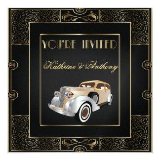 Faire-part de mariage classique vintage de style