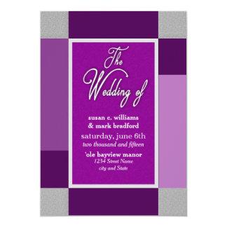 FAIRE-PART DE MARIAGE - COLLECTION ABSTRAITE DE CARTON D'INVITATION  12,7 CM X 17,78 CM