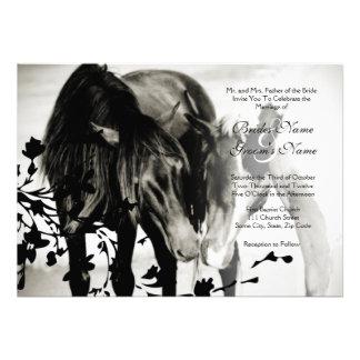 Faire-part de mariage d amour de poney