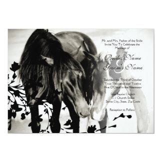 Faire-part de mariage d'amour de poney carton d'invitation  12,7 cm x 17,78 cm