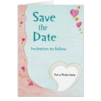 Faire-part de mariage d'amoureux carte de vœux