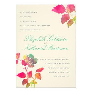 Faire-part de mariage d'aquarelles invitations