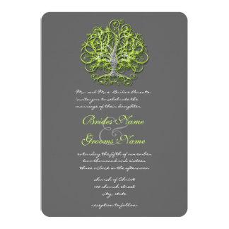 Faire-part de mariage d'arbre d'amour de damassé