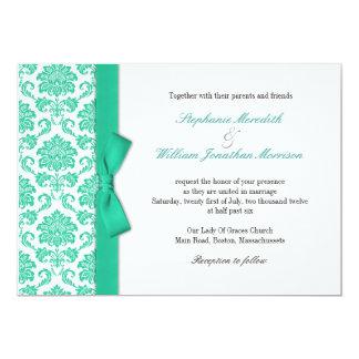 Faire-part de mariage d'arc de turquoise de carton d'invitation  12,7 cm x 17,78 cm