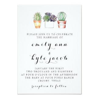 Faire-part de mariage de cactus