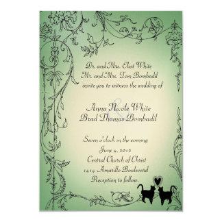 Faire-part de mariage de chats de jardin