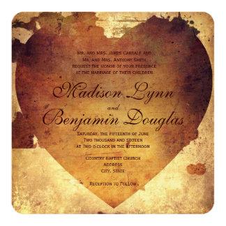 Faire-part de mariage de coeur affligé par pays