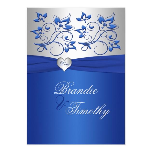 Top Faire-part de mariage de coeur de bleu royal et | Zazzle.fr UE09