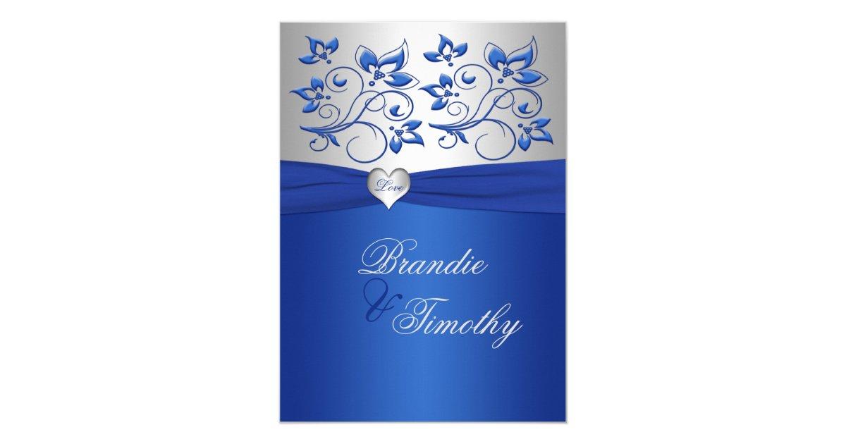 faire part de mariage de coeur de bleu royal et. Black Bedroom Furniture Sets. Home Design Ideas