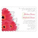 Faire-part de mariage de corail et orange de carton d'invitation  12,7 cm x 17,78 cm