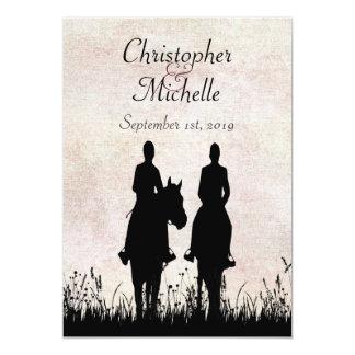 Faire-part de mariage de couples d'équitation carton d'invitation  12,7 cm x 17,78 cm