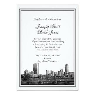 Faire-part de mariage de destination de Boston