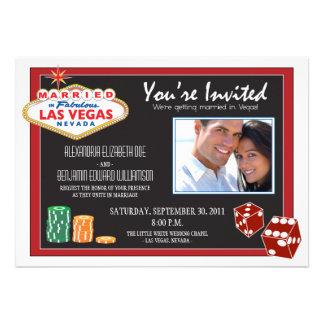 Faire-part de mariage de destination de Las Vegas