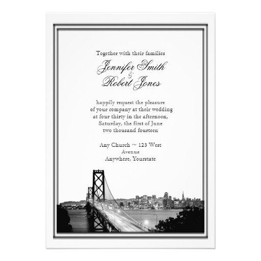 Faire-part de mariage de destination de San Franci