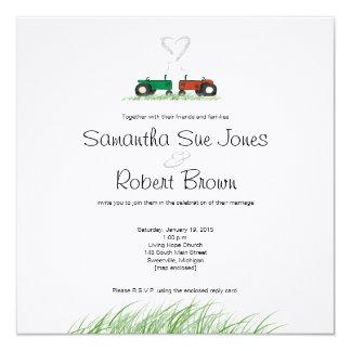 Faire-part de mariage de ferme d'été carton d'invitation  13,33 cm