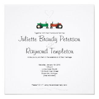 Faire-part de mariage de ferme d'hiver carton d'invitation  13,33 cm