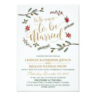Faire-part de mariage de fête de Noël de vacances