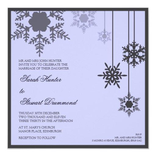 faire part de mariage de flocon de neige d 39 hiver zazzle. Black Bedroom Furniture Sets. Home Design Ideas