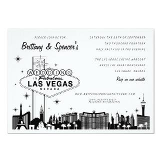 Faire-part de mariage de la bande | Las Vegas de