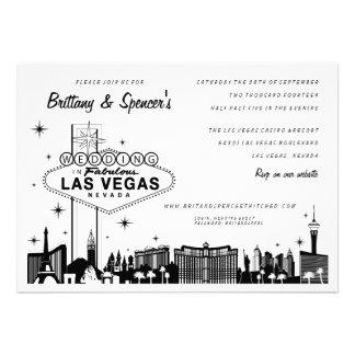 Faire-part de mariage de la bande Las Vegas de L