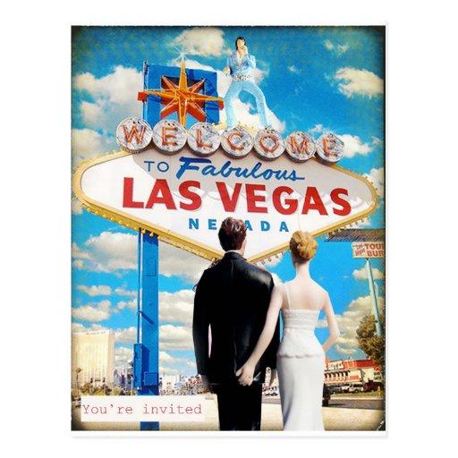 Faire-part de mariage de Las Vegas Carte Postale