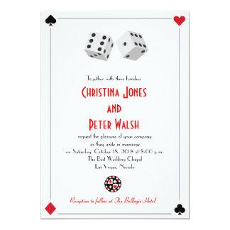 Faire-part de mariage de Las Vegas de casino