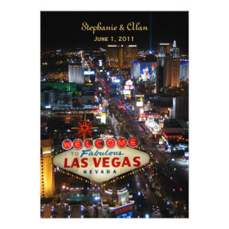 Faire-part de mariage de Las Vegas