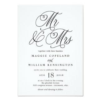 Faire-part de mariage de M. et de Mme Elegant