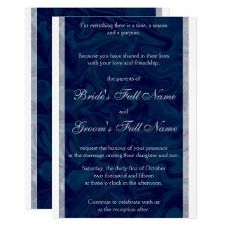 Faire-part de mariage de marbre bleu et gris