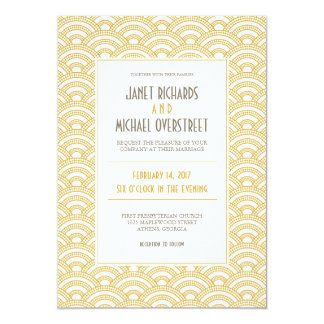Faire-part de mariage de motif d'art déco carton d'invitation  12,7 cm x 17,78 cm