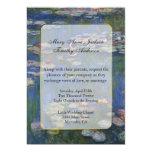 Faire-part de mariage de nénuphars de Monet