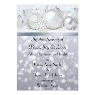 Faire,part de mariage de Noël de Bell argentée