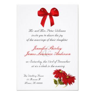 Faire-part de mariage de Noël de poinsettia
