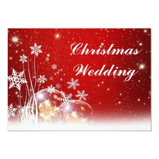 Faire,part de mariage de Noël rouge et blanc