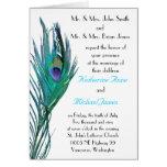 Faire-part de mariage de paon cartes de vœux
