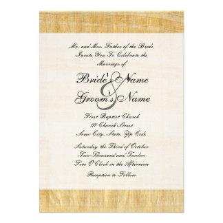 Faire-part de mariage de papier de papyrus