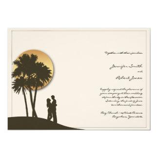 Faire-part de mariage de paradis d'île