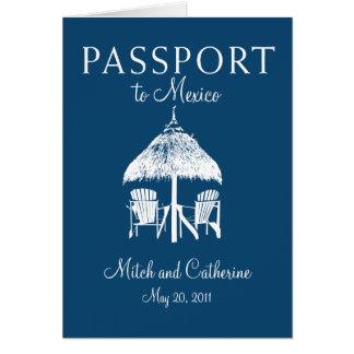 Faire-part de mariage de passeport de Cancun