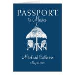 Faire-part de mariage de passeport de Cancun Mexiq Cartes De Vœux