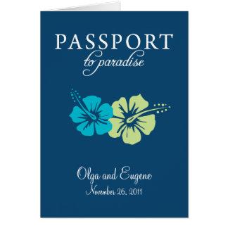 Faire-part de mariage de passeport de Maya de la