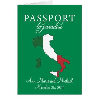 Faire-part de mariage de passeport de Sorrente