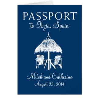 Faire-part de mariage de passeport d'Ibiza Espagne