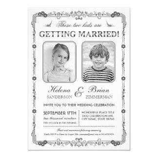Faire-part de mariage de photos de vieille école