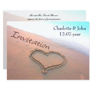 invitations faire part plage mariage personnalis s. Black Bedroom Furniture Sets. Home Design Ideas