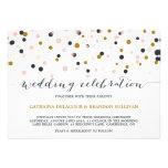Faire-part de mariage de points de confettis de ro