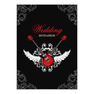 Faire-part de mariage de rock