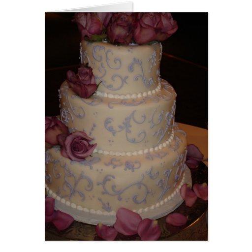Faire-part de mariage de rose de pourpre carte de vœux