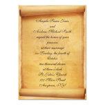 Faire-part de mariage de rouleau de parchemin carton d'invitation  12,7 cm x 17,78 cm