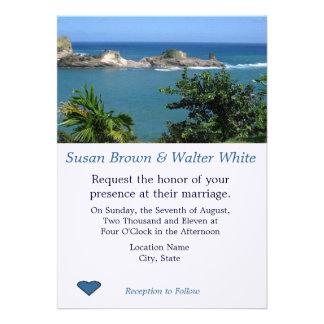 Faire-part de mariage de vue d'océan